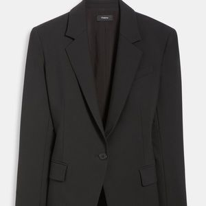 Theory wool Gabe stretch dark Navy jacket blazer